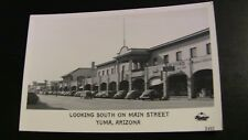 1940's Photo Postcard--ARIZONA--Yuma--Looking South on Main Street-Grocery Signs