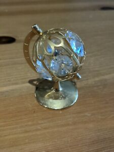 Crystal Temptations Small Turning Globe with Crystals