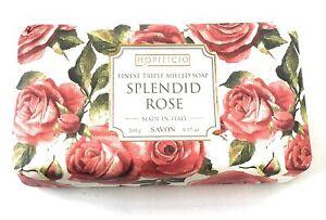 Hopificio Splendid Rose Triple Milled Luxury Italian Soap Bar 9.17 Oz