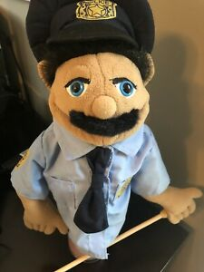 POLICE OFFICER PUPPET Melissa & and Doug Play Toy Imagine Removeable Stick