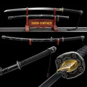 Battle Ready Japanese Tachi Sword 1095 Carbon Steel Full Tang very Sharp Blade