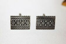 ART DECO Vintage STERLING SILVER Cuff links Signed ST