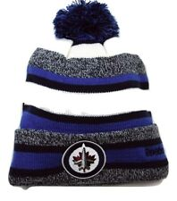 Winnipeg Jets Reebok NHL Hockey Pom Pom Heathered Stripe Winter Hat Beanie Toque