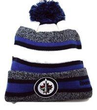 Winnipeg Jets Reebok NHL Hockey Pom Pom Heathered Stripe Winter Hat Beanie Toque