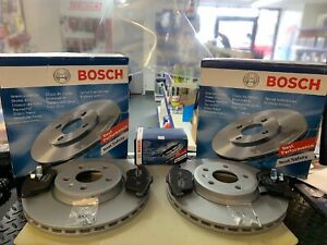 FOR AUDI A4 A5 2.0 TDI S LINE 2008-2012 BOSCH FRONT DISC (314MM) AND PADS
