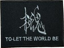 Metal Gear Solid To Let The World Be Badge Embroidered Patch 9cm
