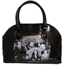 The Addams Family Handbag Black Purse Goth Halloween Punk Horror Morticia Gomez