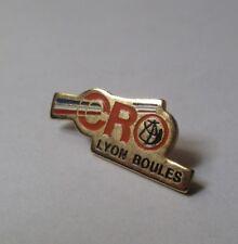 pin's boules - pétanque / CRO Lyon boules (doré)