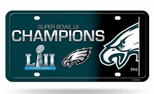 Philadelphia Eagles Super Bowl LII 52 Champions Car Metal License Plate USA made