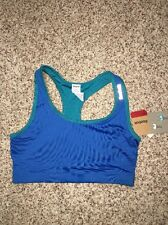 Reebok Sports Bra Reversible Directoire Blue XS Blue Multi-color NWT $30