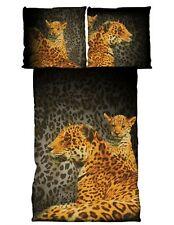Mikrofaser Bettwäsche 2tlg. Leoparden 135x200 cm (80x80 cm)