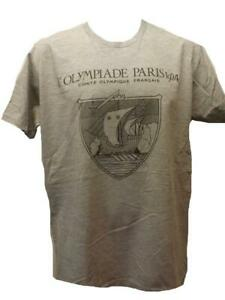 New Paris France Olympics 1924 Mens Size L Large Gray Licensed Shirt
