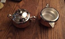 Pottery Barn stainless steel sugar and creamer set new in box NIB