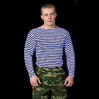 ALL SZ RUSSIAN MILITARY VDV AIRBORNE STRIPED NAVY TELNYASHKA LONG SLEEVE T-SHIRT