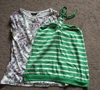 Next, Dorothy Perkins Top & T Shirt Floral Print Striped Size 12 <R1518z