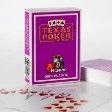 Modiano - Texas Hold'em Poker 100%25 Plastic Playing Cards, 2 Pip, Jumbo Index
