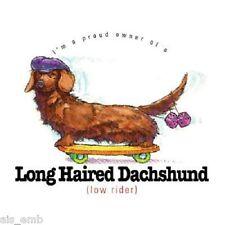 Dachshund Dog Funny HEAT PRESS TRANSFER for T Shirt Sweatshirt Tote Fabric #835c