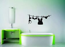 Wall Stickers Vinyl Decal For Bathroom Lingerie Washing Woman ig1530