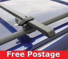 Black Lockable Roof Cross Bars for Vw Golf Mk4 Estate 99-2010