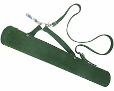 TRADITIONAL LEATHER ARROW BACK / SIDE /HIP (2 IN 1) QUIVER AQ143S GREEN