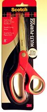 "Scotch Multi-Purpose Craft Utility Scissors 8"" Stainless FACTORY SEALED #1428"
