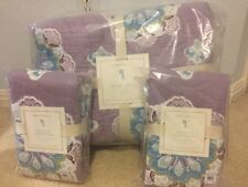 3pc Pottery Barn Kids Brooklyn Full/Queen Quilt Standard shams Lavender/Purple