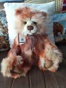 Charlie Bears Tango golen brown excellent condition .
