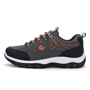New Men's large size outdoor sports breathable lightweight Hiking shoes