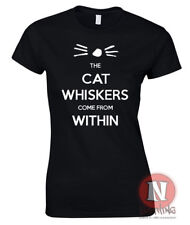 Dan and Phil the cat whiskers come from within ladies fitted t-shirt danisonfire