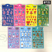 BTS BT21 Official Authentic Goods Jelly Sticker Ver2 7SET by Kumhong +Tracking #