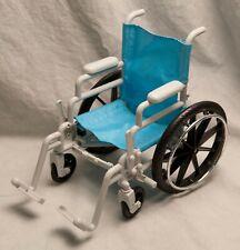 "18"" Doll Wheelchair Foldable Blue Plastic Enertec 2010 American Girl"