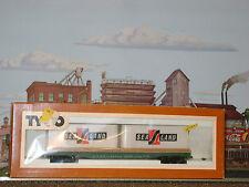 RARE ** SEALAND ** SEA LAND TRAILERS ON 50' FLAT CAR * TYCO HO Scale Trains*mint