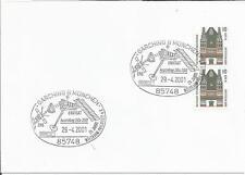Germania 2001 ERS enivsat Agenzia Spaziale Europea Satellite francobolli su carta/COPERCHIO