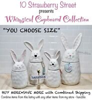 "10 Strawberry Street Bunny Canister Dimpled Ceramic Easter ""YOU CHOOSE""NEW'20-21"