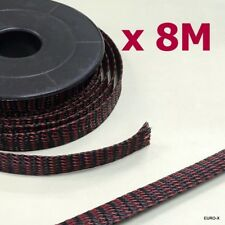 8M/Lot 14mm Expandable Braided BlkRed Cable Sleeving Wire Wrap Protect Net #Agtc