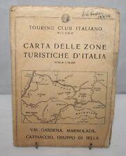 Italy - Touring Club Italiano 1:50,000 Sheet Map - Val Gardena - 1955