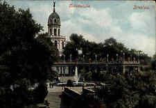 Breslau Wrocław Polen Schlesien Color AK ~1910 Liebichshöhe Brunnen ungelaufen