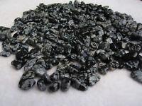 100g NICE!! Tumbled Wholesale Snowflake Obsidian Healing Stones