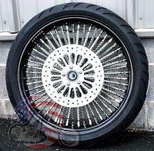 21 X 3.5 52 Mammoth Fat Black Rim Hub Evo Spoke Wheel Tire 00-07 Harley Touring