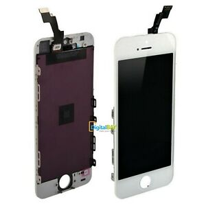 LCD DISPLAY RETINA VETRO SCHERMO BIANCO FRAME PER APPLE TOUCH SCREEN IPHONE 5S