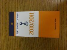 09/03/2011 Ticket: Tottenham Hotpsur v AC Milan [UEFA Champions League] Gary Mab