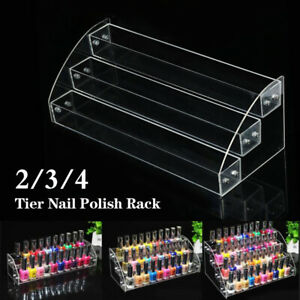 Women Storage Organizer Lipstick Rack Nail Stands Acrylic Display Holder Beauty