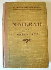 BOILEAU - Poésie et Prose - Didier / Privat - 1936 - Relié