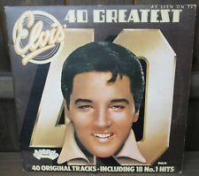 "Elvis Presley: 40 Greatest Hits 12"" LP 2 x 33rpm Vinyl Arcade Records RCA 1975"