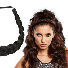 "Milano Collection PREMIUM Braided Head Hairband 1/2"" Thick Headband - Black"