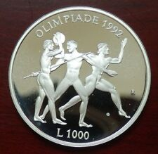 "San Marino: 1000 Lire ""Olympiade Barcelona 1992"" 1992 - PP/Ag. !!"