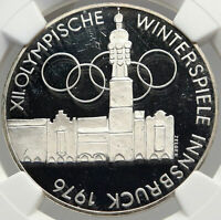 1976 AUSTRIA Innsbruck WINTER Olympic Games SILVER 100 Schilling NGC Coin i82957