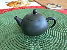 Vintage Miniature Japanese Black Porcelain Teapot, Signed