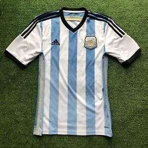 Adidas Argentina AFA Home Jersey Shirt Men's G74569 Blue White 2014 World Cup S