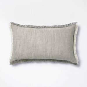 Threshold x Studio McGee Linen Throw Pillow with Contrast Frayed Edges - New